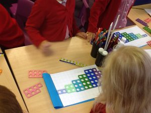 Y1 learning how to count in 2s.