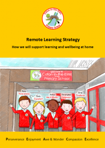 Remote Learning Strategy Booklet cover